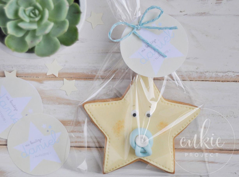 Galleta estrella beb cukie project galletas para bautizos regalos beb s - Que regalar en un bautizo al bebe ...