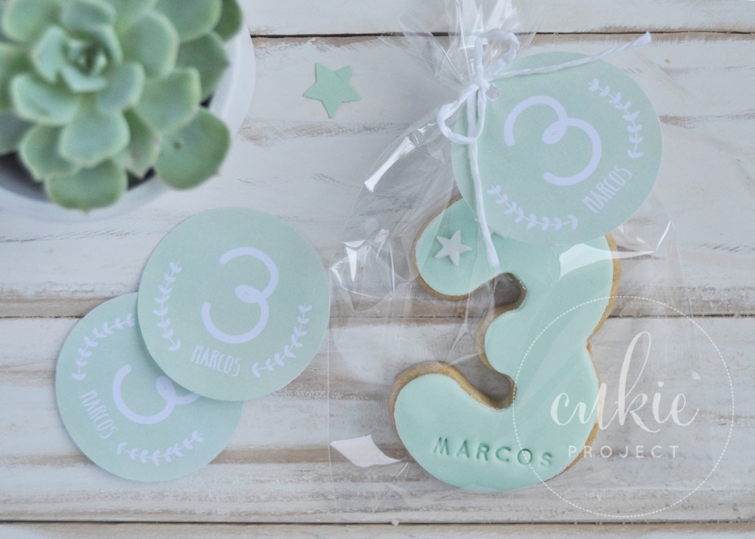 Galletas decoradas comuniones en forma de Número - Cukie Project